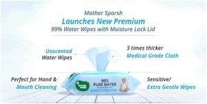 Mother Sparsh Unscented 99% water wipes
