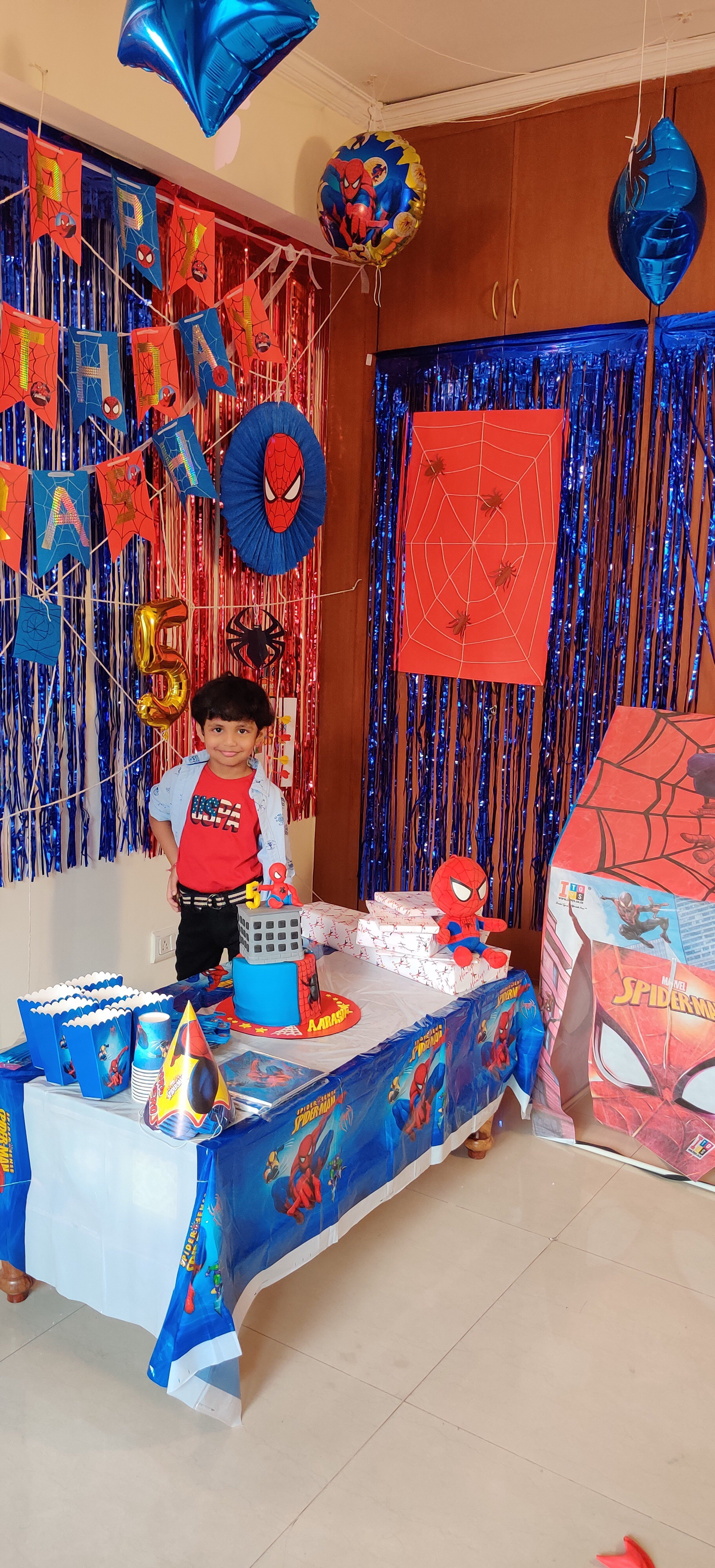 DIY Birthday Decorations for Spider-Man Theme Party